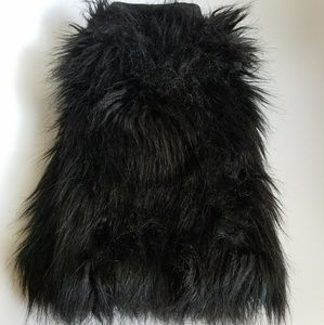 Jessica Simpson Faux Fur Leg Warmers/Boot Covers